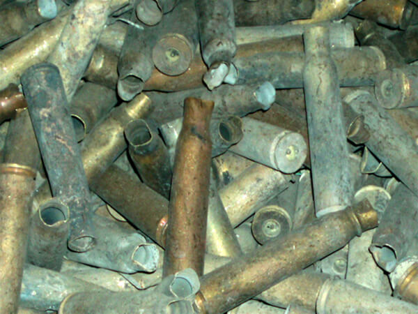 Brass Shell Cases Without Primers (Lake or Lace) Scrap