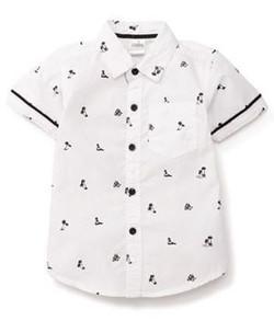 Kids Half Sleeves Printed Shirt