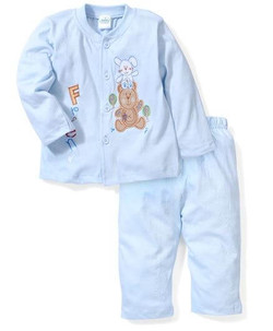 Kids Full Sleeves Night Suit Print
