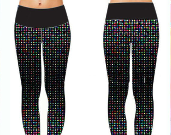 Womens Front Zip Golf Pant Logo Label & other Pattern Designs Sublimation Print