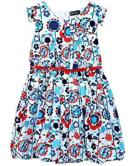 Kids Printed Dress With Belt