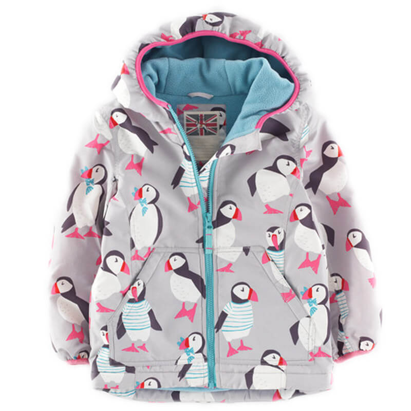 Girls Hooded Jacket Printed