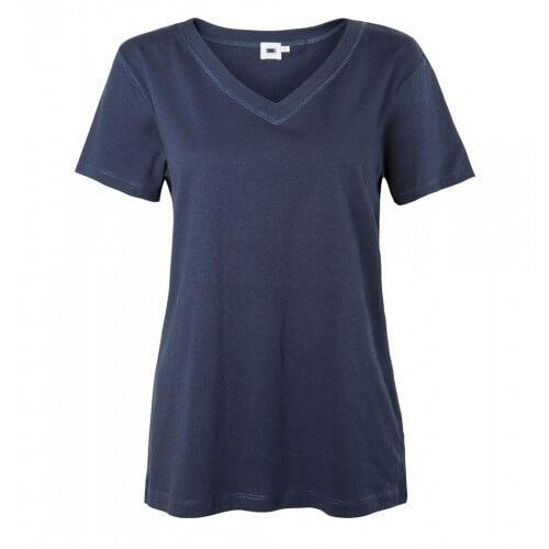 Womens Cotton V- Neck T-Shirt
