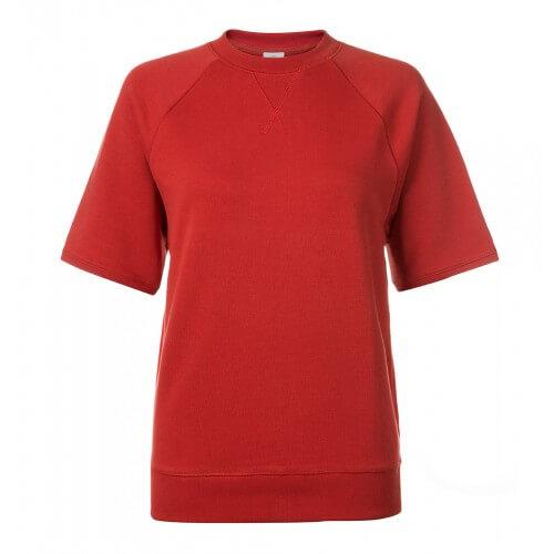 Womens Cotton Sweatshirt With Short Sleeve
