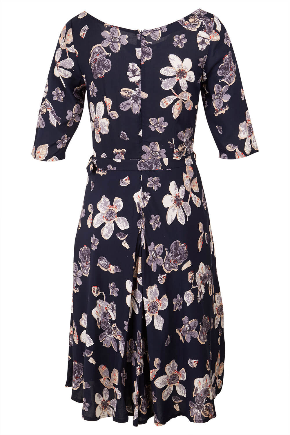 Womens Neck Tie Floral Dress