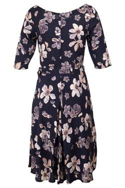 Womens Neck Tie Floral Dress