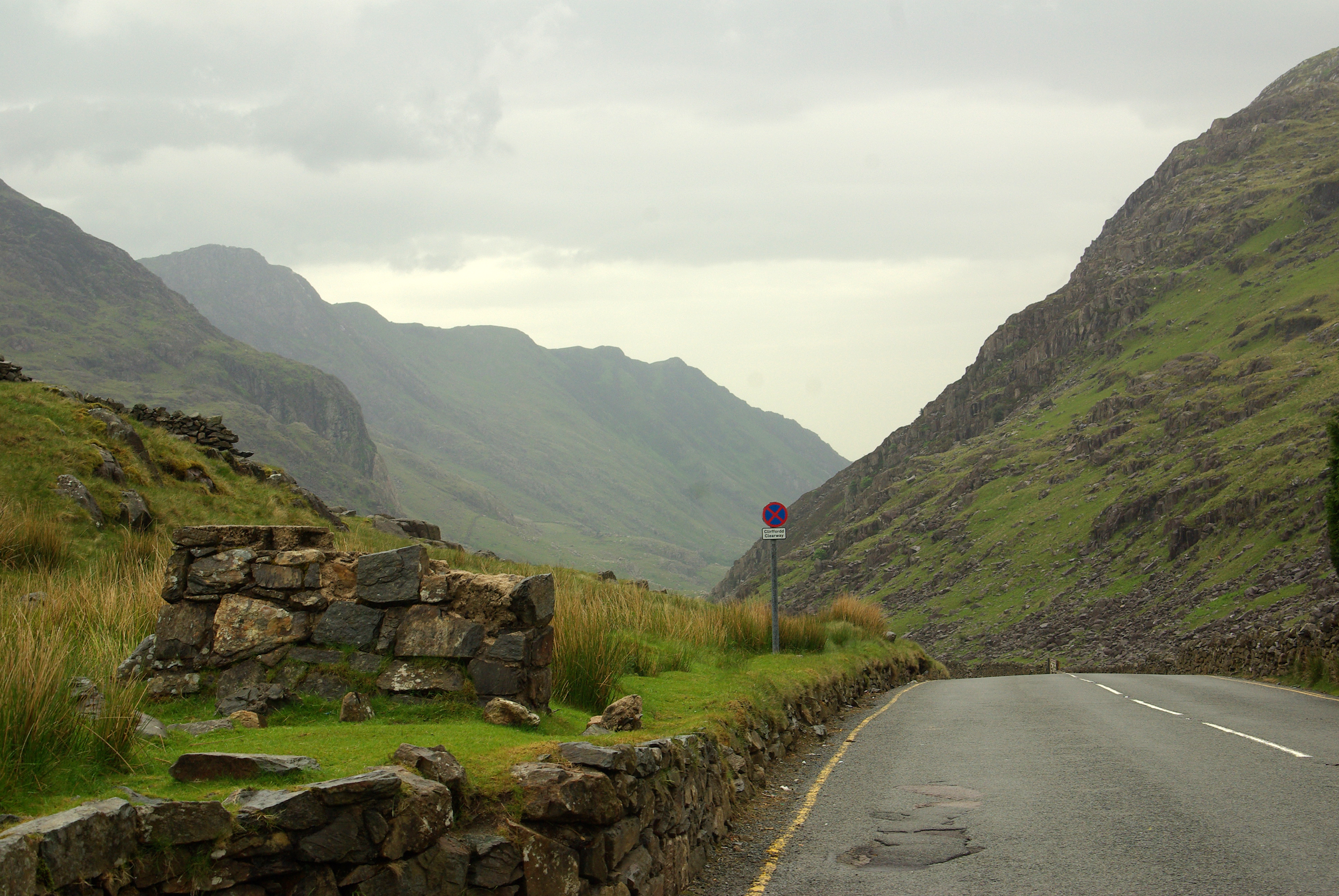 Mountain Valley In Snowdonia National Park In Wales