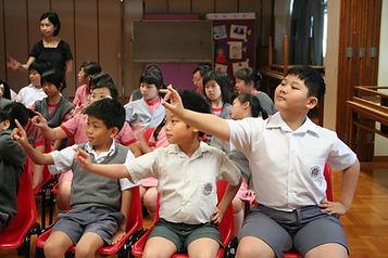 lovely boy learning Cantonese Opera.JPG
