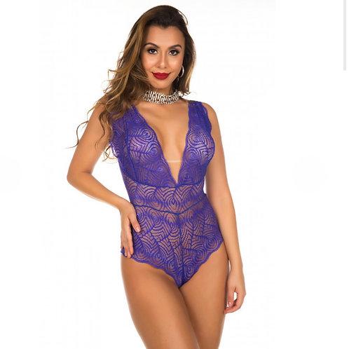 Body Sensual Renda-se Azul Bic