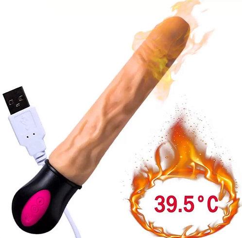 Vibrador Pênis Realistico Flexível Vertebrado