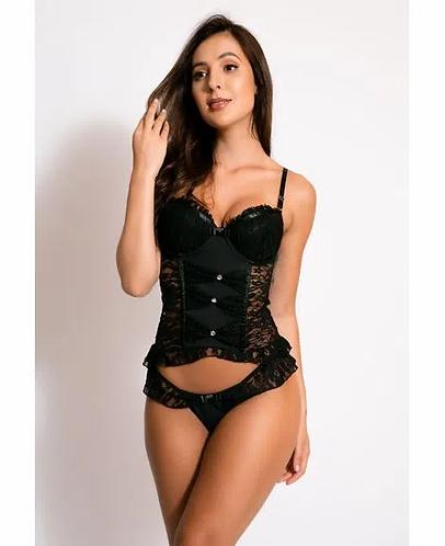 Corpete Sexy Com Bojo em Renda