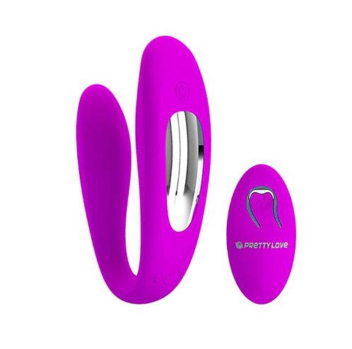 Vibrador para Casal Ponto G com 10 Modos de Vibração e Controle Wireless