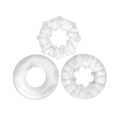 Kit com 3 Anéis Penianos em Silicone