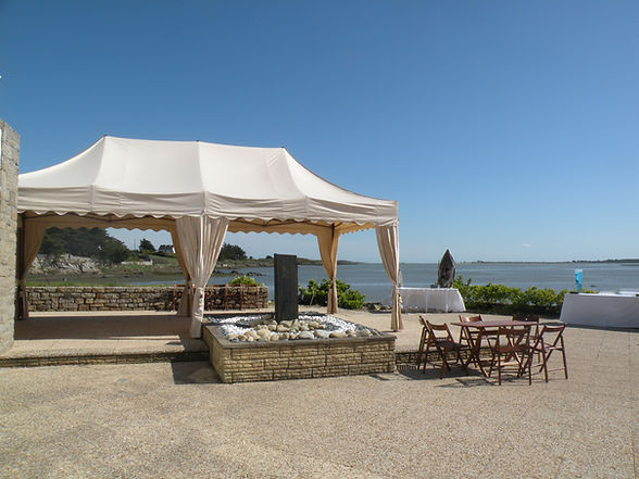 Salle de mariage avec mer Morbihan