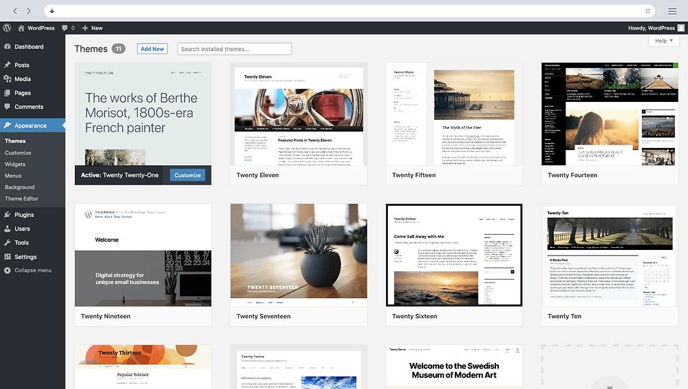 Start your blog using WordPress