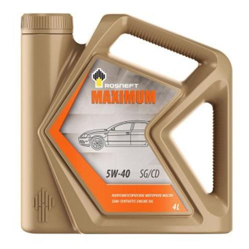 Масло моторное RN MAXIMUM 5W-40 SG/CD полусинтетическое, универсальное 4л