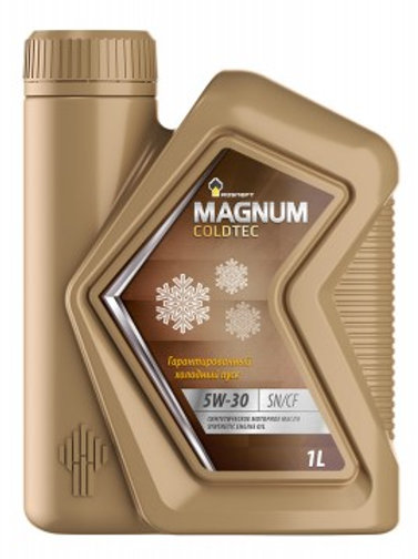 Масло моторное RN MAGNUM COLDTEC 5W-30 SN/CF синтетическое, универсальное 1л