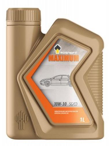 Масло моторное RN MAXIMUM 10W-30 SG/CD минеральное, универсальное 1л