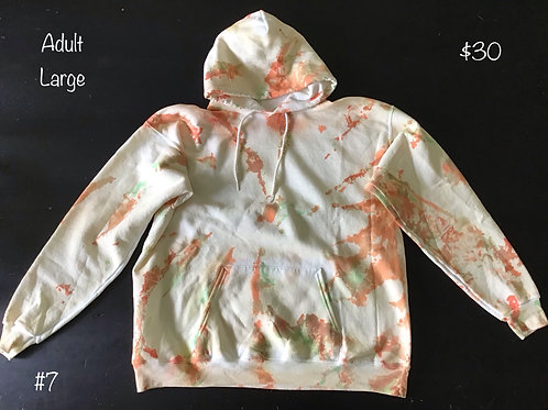 TieDye Sweatshirt Orange