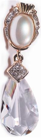 Swarovski Crystal and Pearl Pin