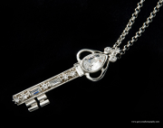 Swarovski Crystal Key Necklace