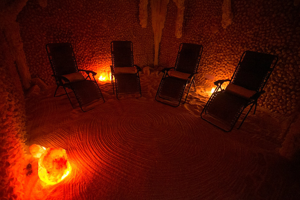 Salt Therapy Cave at Rain Wellness Spa i