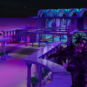 Bath House at night