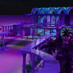 Bath House at night