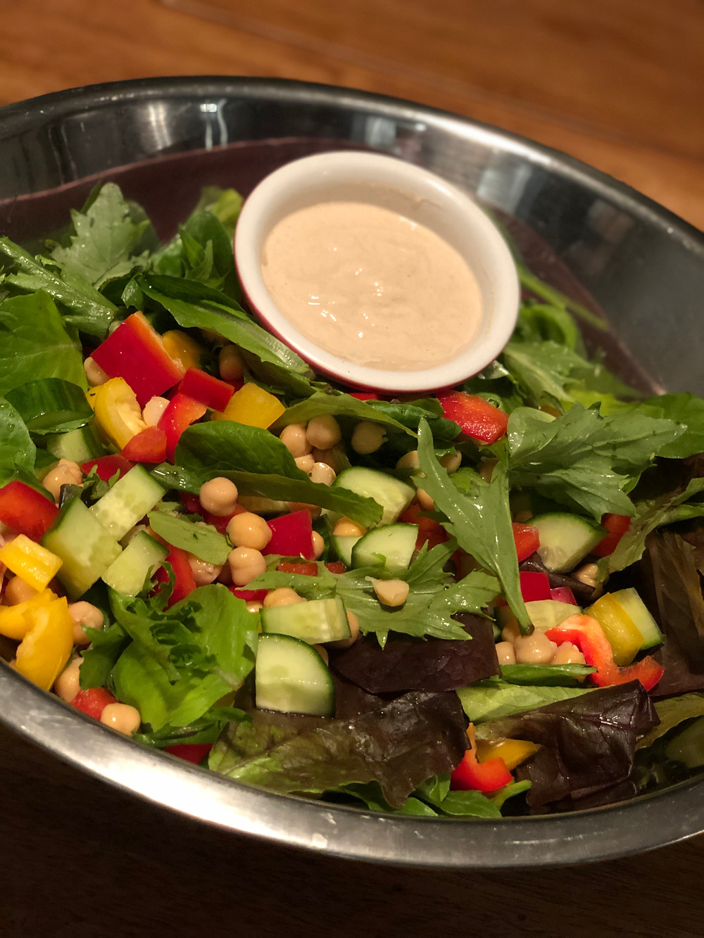 Tahini Chickpea and Cucumber Salad