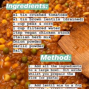 One-pan lentil mix *Recipe*