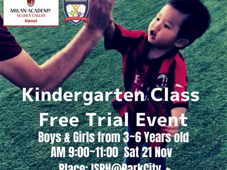 AC Milan Academy Hanoi Kindergarten Experience Day on 21st Nov