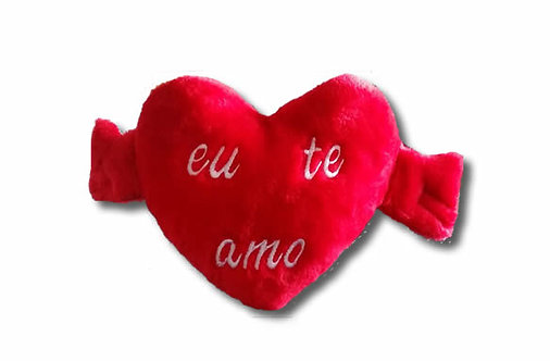 """Coração """"Eu te Amo"""" Tam médio (43x25cm)"""