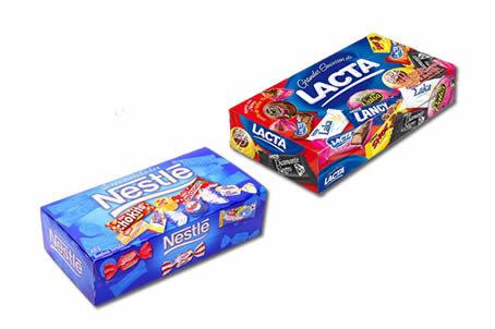 Bombom da Lacta ou Nestlé (caixa de 302g)