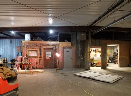 Front warehouse - new walls
