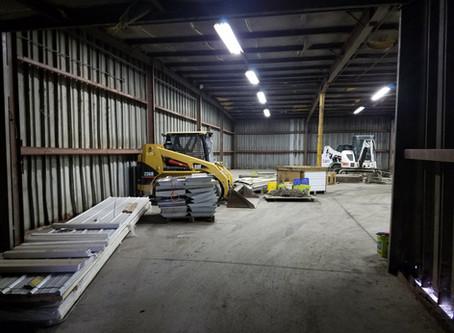 Back warehouse - beginning the renovation
