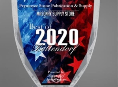 Best of Bettendorf 2020 Masonry Supply Store - Thank you!
