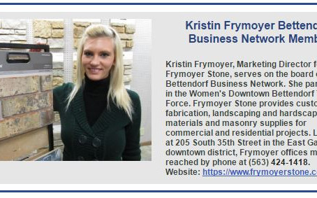 Today in the Bettendorf Business Network Weekly Business Newsletter