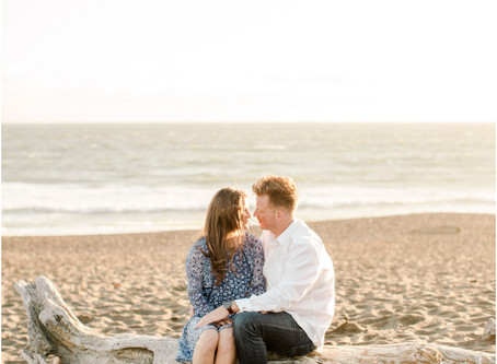 Crystal + Kevin's Rodeo Beach Engagement session