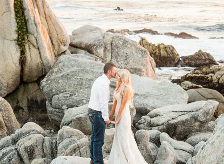 Hailey + Tanner's Beach front Carmel Wedding