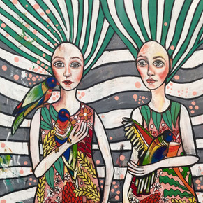 'Three Three Rosellas', 2020