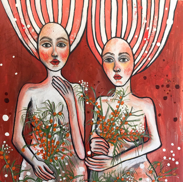 """""""Ladies with Wattle', 2020"""