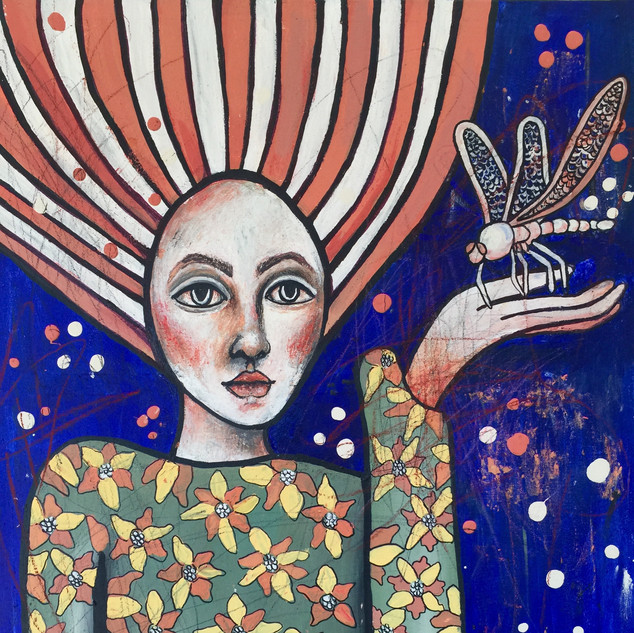 'Lady with Dragonfly', 2020