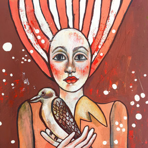 'Woman with Bird'