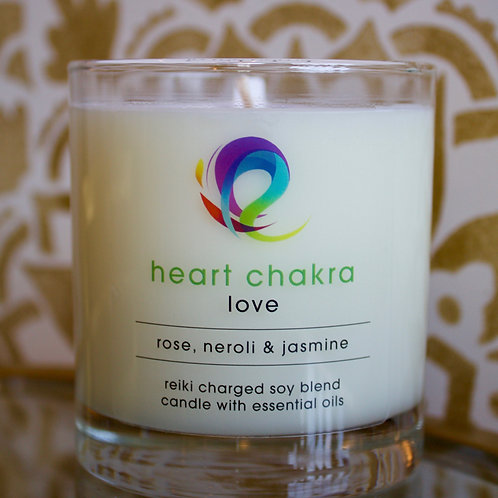 Heart Chakra Candle: Love