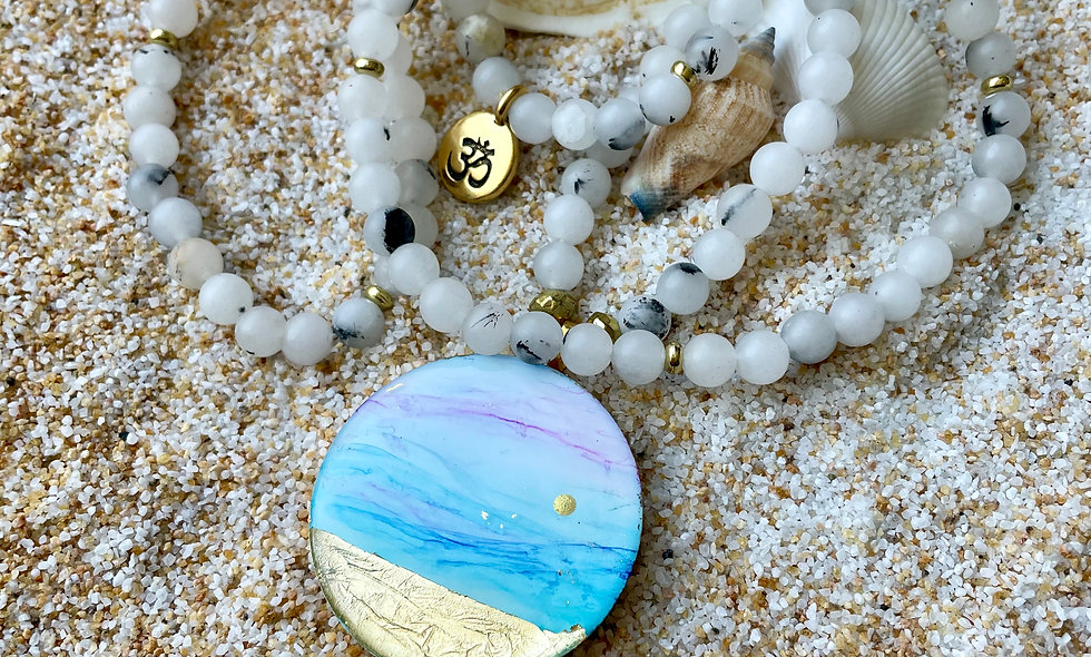 Quartz Mala Necklace: Healing