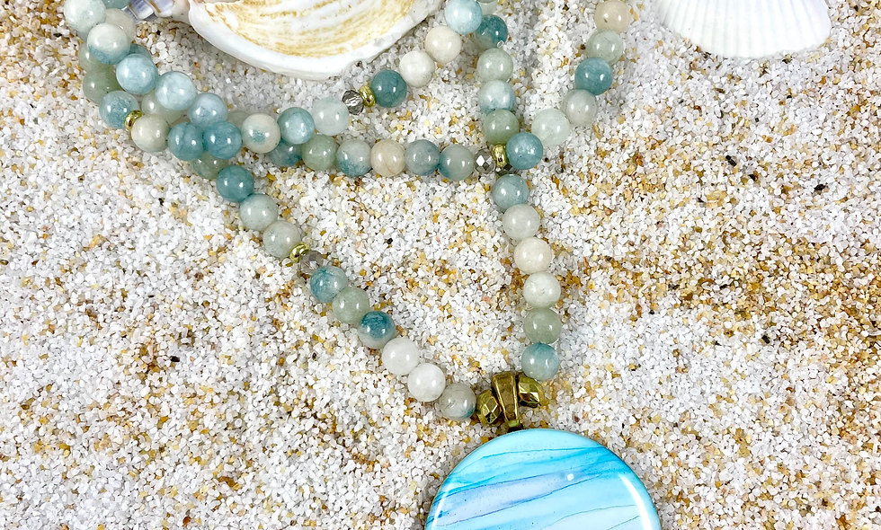 Agate Mala Necklace: Patience