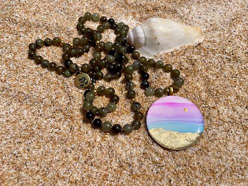 Intuition & Awakening | Labradorite Mala Necklace