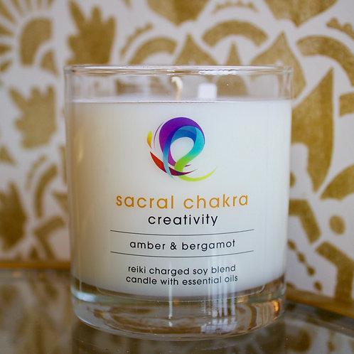Sacral Chakra Candle: Creativity