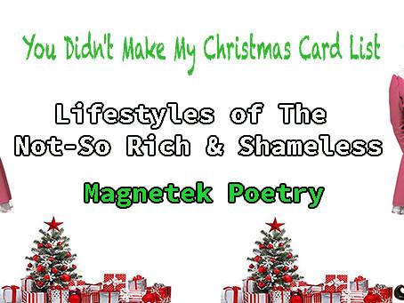 MoHagani's Christmas Card List