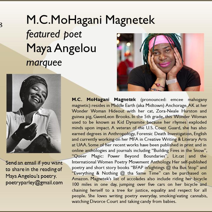 Poetry Parley: Maya Angelou Nite (Past Event)